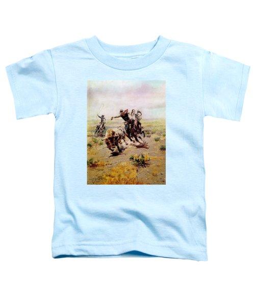 Cowboy Roping A Steer Toddler T-Shirt