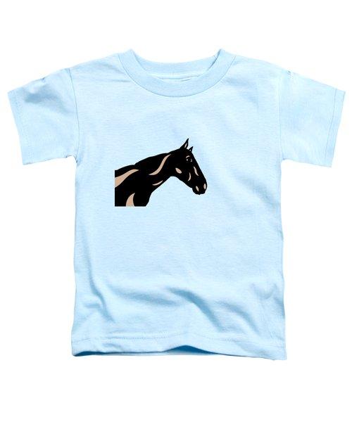 Crimson - Pop Art Horse - Black, Hazelnut, Island Paradise Blue Toddler T-Shirt