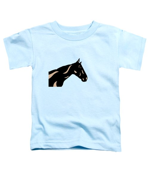 Crimson - Pop Art Horse - Black, Hazelnut, Island Paradise Blue Toddler T-Shirt
