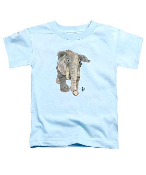 Cuddly Elephant Toddler T-Shirt by Angeles M Pomata