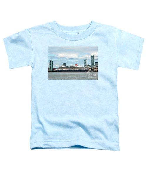 Cunard's Queen Elizabeth At Liverpool Toddler T-Shirt