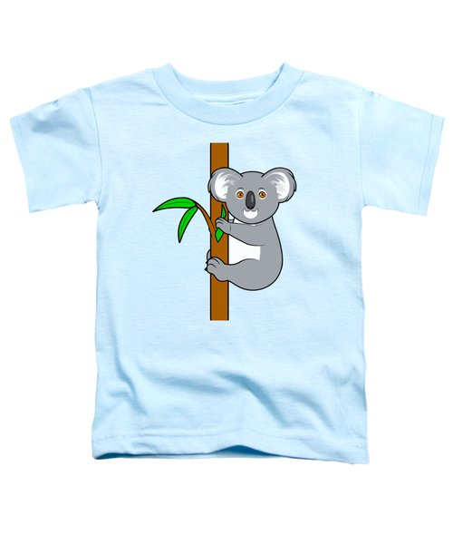 Koala With Eucalyptus Snack Toddler T-Shirt by A