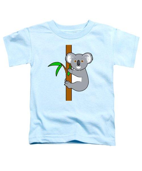 Koala With Eucalyptus Snack Toddler T-Shirt