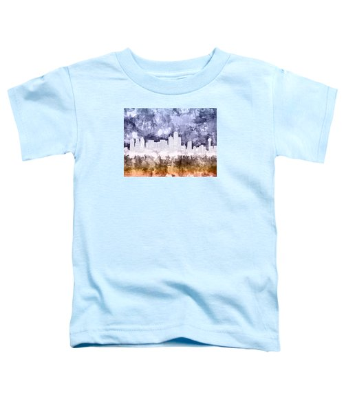 Dallas Skyline Brush Strokes 3 Toddler T-Shirt