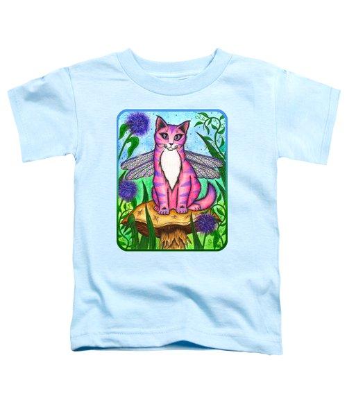 Dea Dragonfly Fairy Cat Toddler T-Shirt