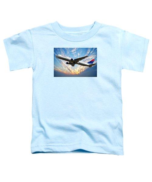 Delta Passenger Plane Toddler T-Shirt