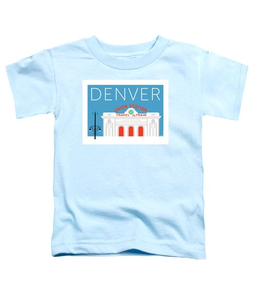 Denver Union Station/blue Toddler T-Shirt