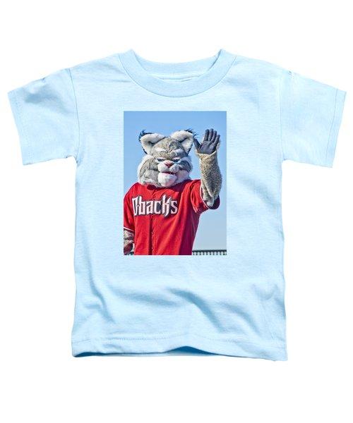 Diamondbacks Mascot Baxter Toddler T-Shirt by Jon Berghoff