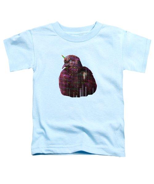 Disco Pigeon Unicorn Toddler T-Shirt by Tatiana Kotelnikova