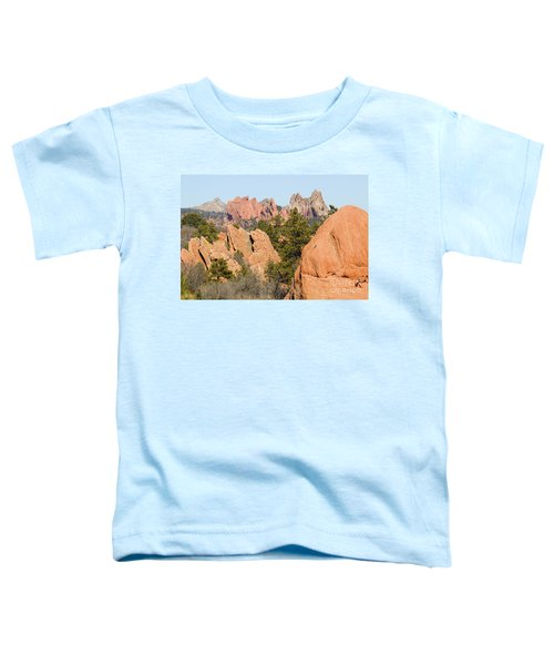 Distant Garden Of The Gods From Red Rock Canyon Toddler T-Shirt