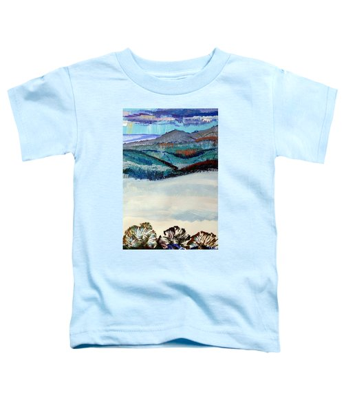 Distant Hills And Mist In The Lowlands Landscape Toddler T-Shirt
