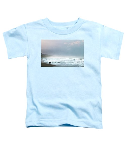 Dog On A Costa Rica Beach Toddler T-Shirt
