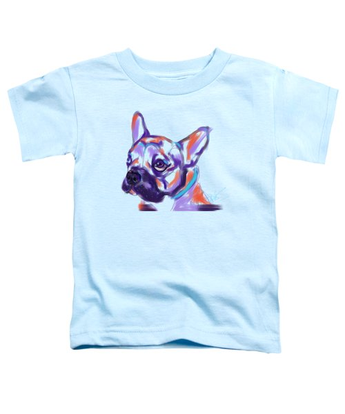 Toddler T-Shirt featuring the painting Dog Reggie by Go Van Kampen