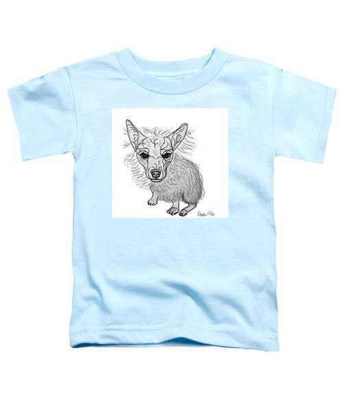 Dog Sketch In Charcoal 3 Toddler T-Shirt