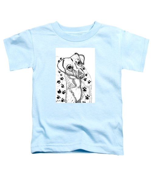 Dog Sketch In Charcoal 4 Toddler T-Shirt