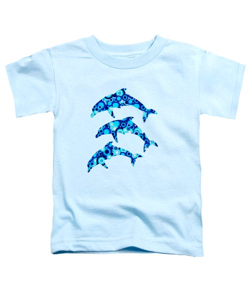 Dolphins - Animal Art Toddler T-Shirt