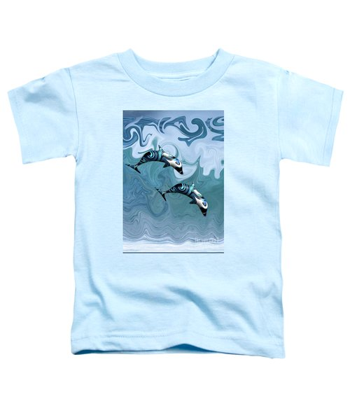 Dolphins Playing In The Waves Toddler T-Shirt