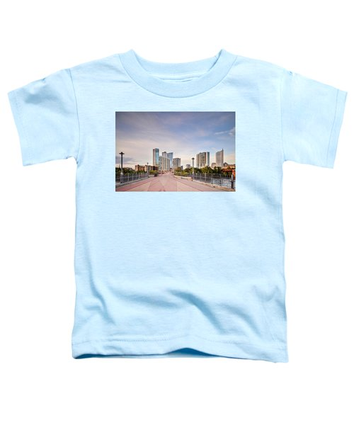 Downtown Austin Skyline From Lamar Street Pedestrian Bridge - Texas Hill Country Toddler T-Shirt