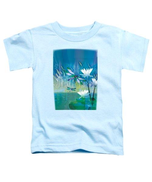 Dragonfleis On Blue Pond Toddler T-Shirt