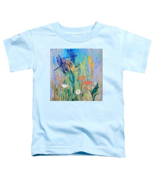 Dragonflies In Wild Garden Toddler T-Shirt
