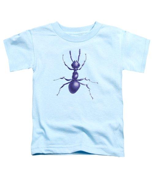 Drawn Purple Ant Toddler T-Shirt by Boriana Giormova