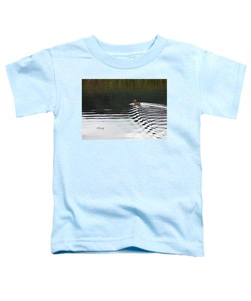 Duck On Ripple Wake Toddler T-Shirt