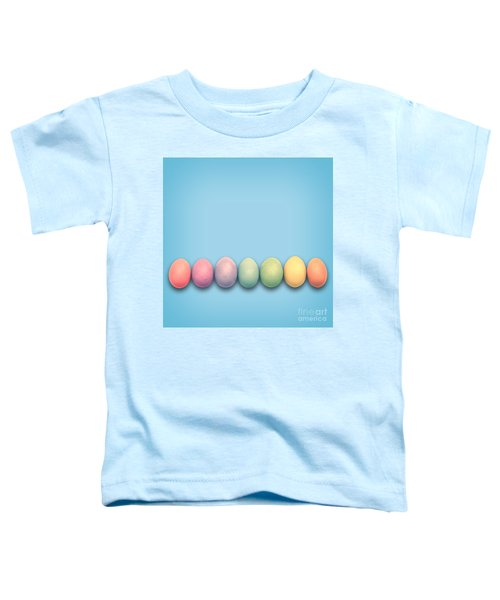 Easter Eggs, Blue Toddler T-Shirt