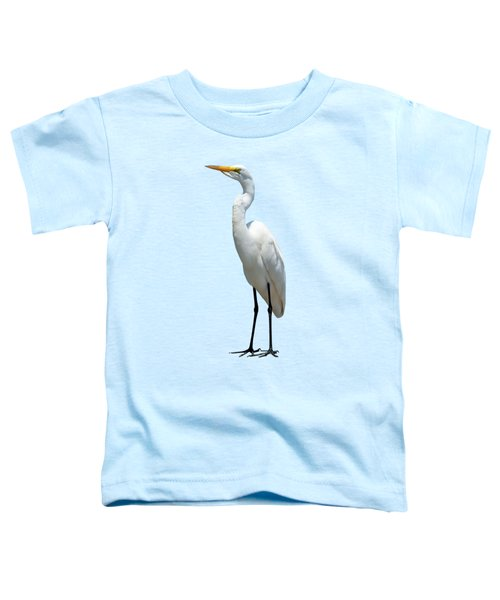Eastern Great Egret Ardea Alba Modesta Toddler T-Shirt