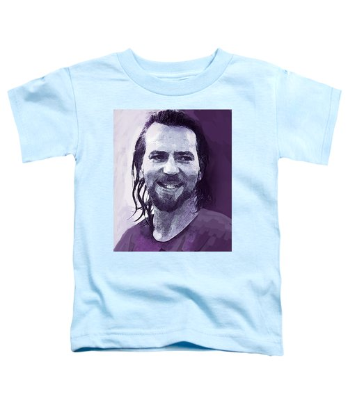 Eddie Vedder Pearl Jam  Toddler T-Shirt by Enki Art