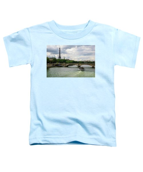 Eiffel Tower And The River Seine Toddler T-Shirt