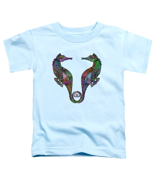 Electric Seahorses Toddler T-Shirt by Tammy Wetzel