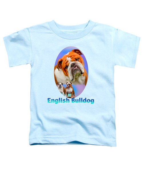 English Bulldog With Border Toddler T-Shirt