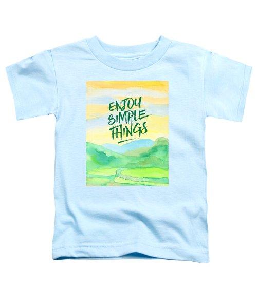 Enjoy Simple Things Rice Paddies Watercolor Painting Toddler T-Shirt