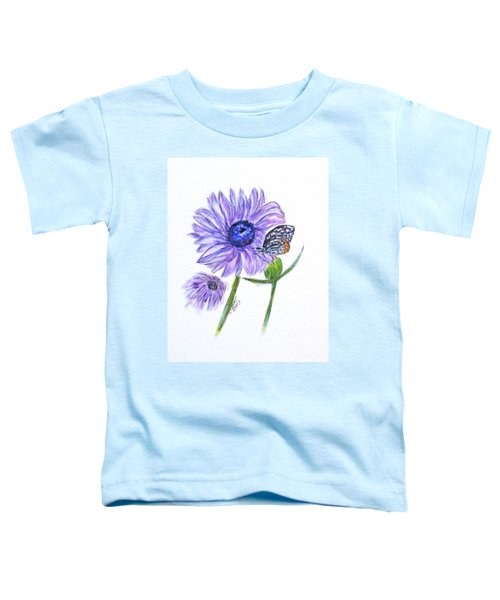 Erika's Butterfly Three Toddler T-Shirt