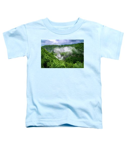 Falls Through The Fog - Plitvice Lakes National Park Croatia Toddler T-Shirt