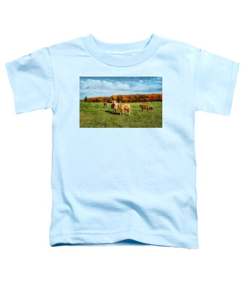Farm Field And Brown Cows Toddler T-Shirt