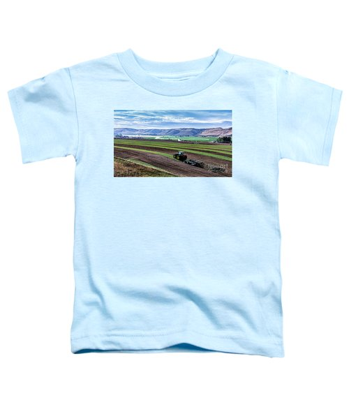 Farming In Pardise Agriculture Art By Kaylyn Franks Toddler T-Shirt