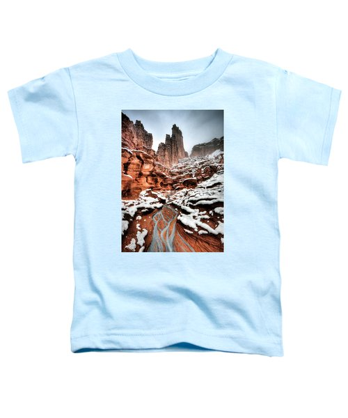 Toddler T-Shirt featuring the photograph Fisher Towers by Whit Richardson