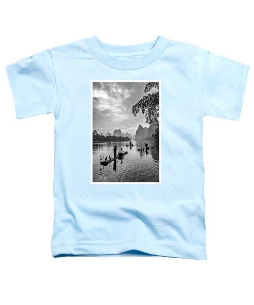 Fishermen At Dawn. Toddler T-Shirt