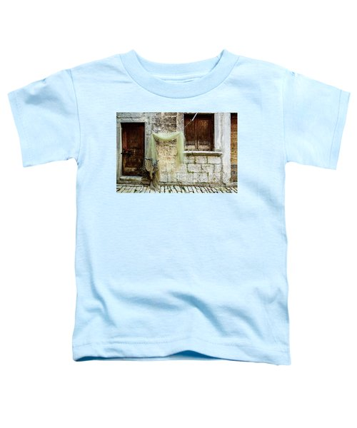 Fishing Net Hanging In The Streets Of Rovinj, Croatia Toddler T-Shirt
