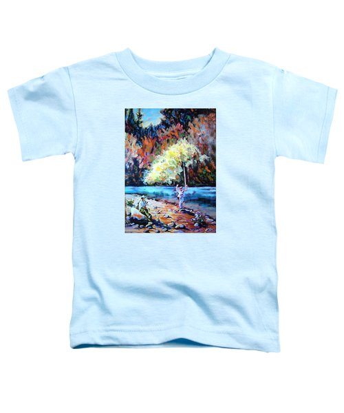 Fishing Painting Catch Of The Day Toddler T-Shirt