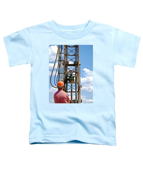 Toddler T-Shirt featuring the photograph Fixing A Hole by Carl Young
