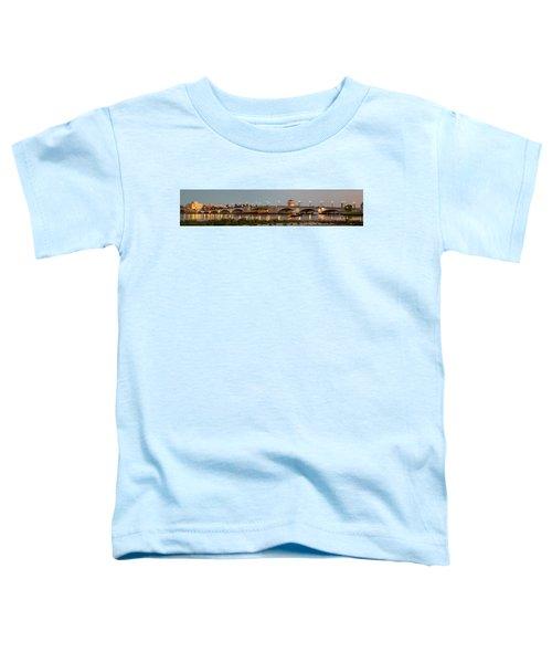Flagler Bridge In Lights Panorama Toddler T-Shirt