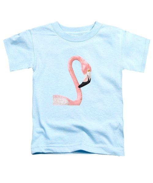 Flamingo Toddler T-Shirt by Rita Palmer
