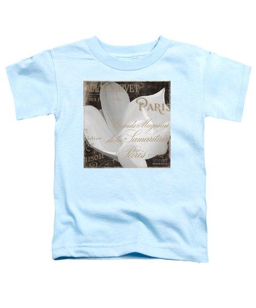 Fleurs Blanc Magnolia Toddler T-Shirt