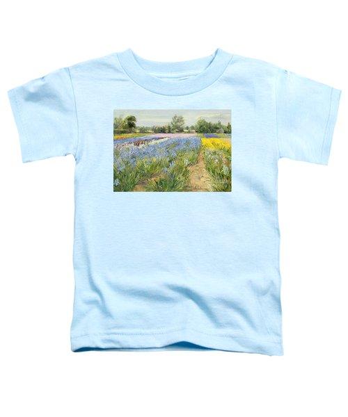 Floral Chessboard Toddler T-Shirt