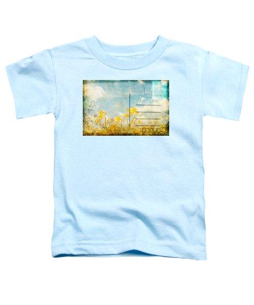 Floral In Blue Sky Postcard Toddler T-Shirt