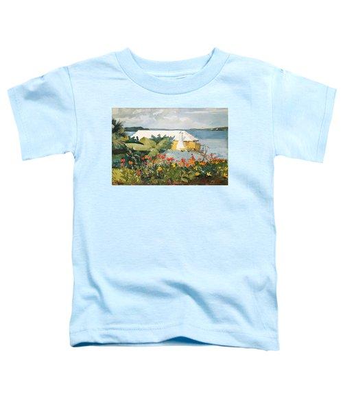 Flower Garden And Bungalow Toddler T-Shirt