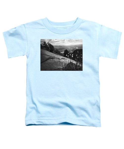 Flowers At Table Rock Overlook In Black And White Three Toddler T-Shirt