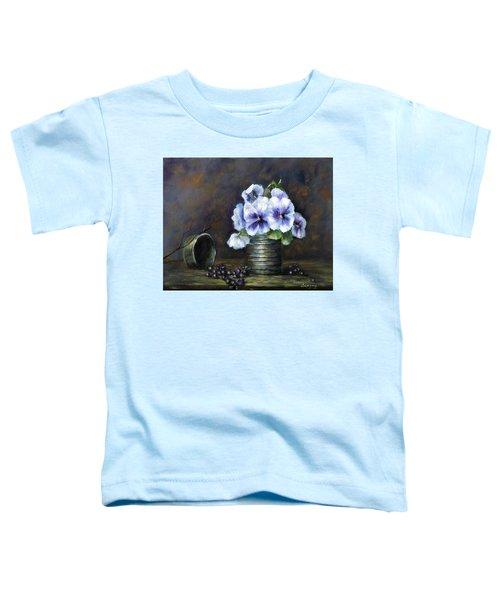 Flowers,pansies Still Life Toddler T-Shirt